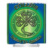 Collins Ireland To America Shower Curtain