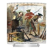 Colonial Blacksmith, 1776 Shower Curtain