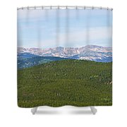 Colorado Continental Divide 5 Part Panorama 1  Shower Curtain