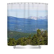 Colorado Continental Divide 5 Part Panorama 5 Shower Curtain