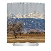 Colorado Front Range Continental Divide Panorama Shower Curtain