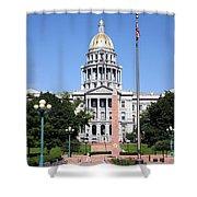 Colorado State Capitol Building Denver Shower Curtain
