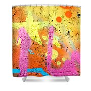 Colored Texture Detail Shower Curtain