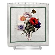 Colorful Anemones Square Shower Curtain
