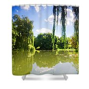 Colorful Autumn Summer Park Shower Curtain