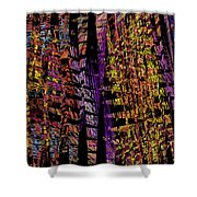 Colorful Computer Generated Abstract Fractal Flame Shower Curtain by Keith Webber Jr