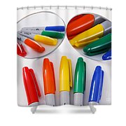 Colorful Markers Shower Curtain