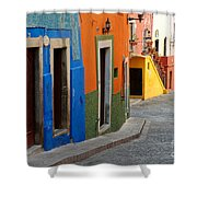 Colorful Street, Mexico Shower Curtain