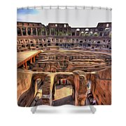 Colosseum In Rome Shower Curtain