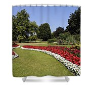 Colourful Flowerbeds In Hyde Park In London England Shower Curtain