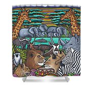 Colours Of Africa Shower Curtain