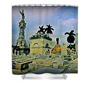 Columbus Cemetary Havana Shower Curtain