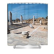 Columns In Archaeological Site Shower Curtain