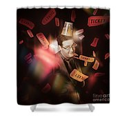 Comedy Entertainment Man On Theater Stage Shower Curtain