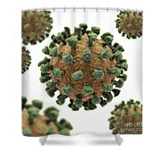 Common Cold Virus Shower Curtain