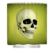 Conceptual View Of Human Skull Shower Curtain