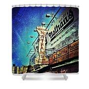 Coney Island Grub Shower Curtain