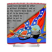 Confederate States Of America Robert E Lee Shower Curtain