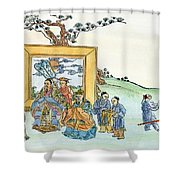 Confucius (c551-479 B Shower Curtain