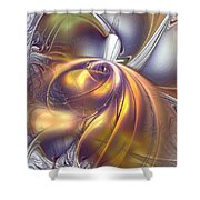 First Contact Shower Curtain