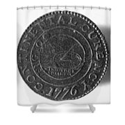 Continental Dollar, 1776 Shower Curtain