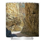 Contrasting Canyon Colors In Big Painted Canyon Trail In Mecca Hills-ca Shower Curtain