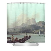 Cook Tahiti, 1773 Shower Curtain