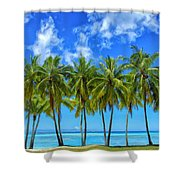 Cool Breeze Shower Curtain