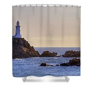 Corbiere Lighthouse - Jersey Shower Curtain