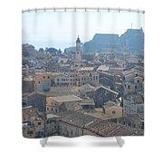 Corfu City 2 Shower Curtain