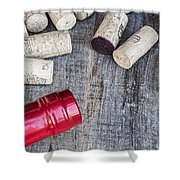 Corks With Bottle Shower Curtain