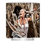 Corn Field Horror Shower Curtain