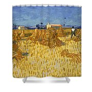 Corn Harvest In Provence Shower Curtain