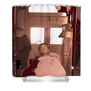 Corpse Bullet Holes Train Robber Cole Estes Aka Cole Young 1872-1896 Collage 1896-2012  Shower Curtain