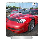 Corvette Z06 Shower Curtain