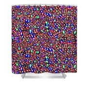 Cosmic Star Sparkles Spectrum Abstract Art By Navin Joshi Created Out Of Christmas Lights Gifts And  Shower Curtain