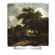 Cottages In A Wood Shower Curtain