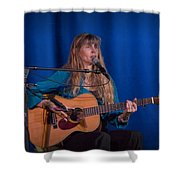Country Blues Singer Rory Block In Concert Shower Curtain