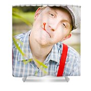 Country Golf Shower Curtain