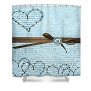 Country Hearts Shower Curtain