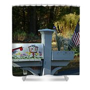 Countryside Mailbox #9 Shower Curtain
