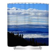 Courthouse Valley Sea Of Clouds Shower Curtain