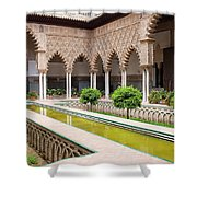 Courtyard Of The Maidens In Alcazar Palace Of Seville Shower Curtain