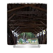 Covered Bridge Shower Curtain