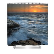 Covered By The Sea Shower Curtain