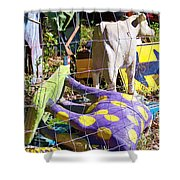 Cow Tipping Shower Curtain