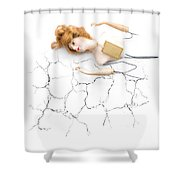 Cracked And Broken Shower Curtain