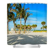 Crandon Park Beach Shower Curtain