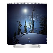 Crater Lake Midnight Oregon Shower Curtain