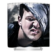Crazy About Garbage Shower Curtain